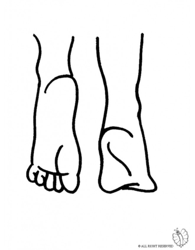 Best ideas about Feet Coloring Pages For Kids . Save or Pin Coloring Page of Feet for coloring for kids sketchue Now.