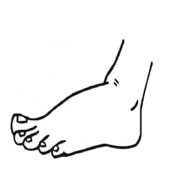 Best ideas about Feet Coloring Pages For Kids . Save or Pin Desenho de Pé esquerdo para colorir Tudodesenhos Now.