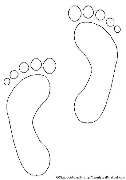Best ideas about Feet Coloring Pages For Kids . Save or Pin How to Make Footprint Crafts Now.