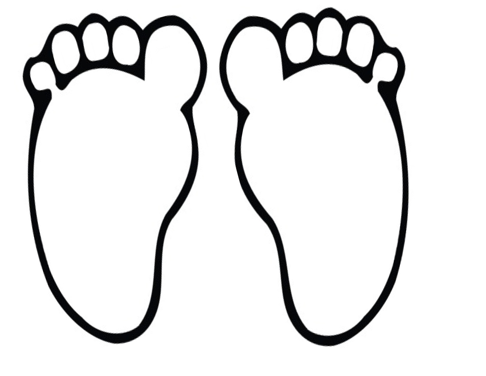 Best ideas about Feet Coloring Pages For Kids . Save or Pin Foot Clipart 6526 Free Clipart — Clipartwork Now.