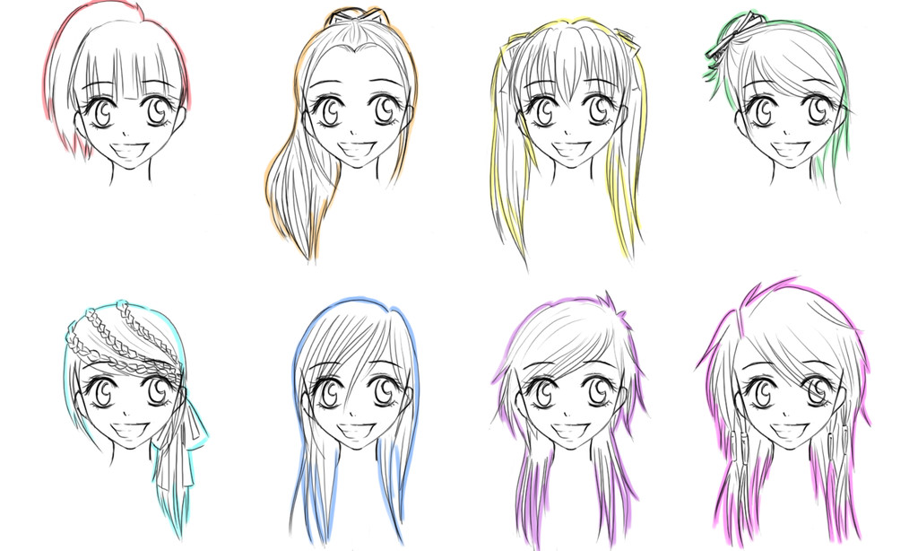 Best ideas about Female Anime Hairstyles . Save or Pin long anime hairstyles Now.
