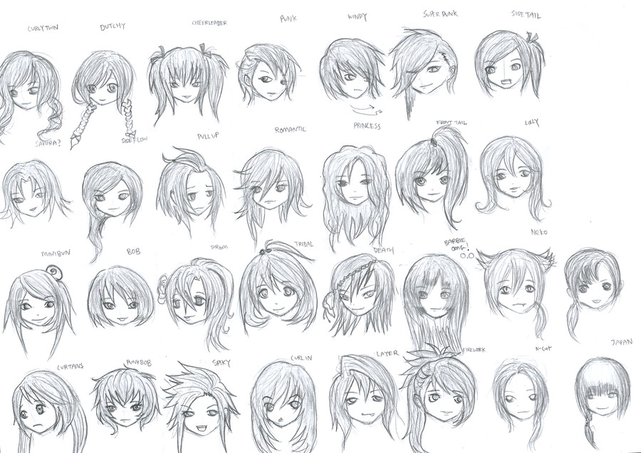 Best ideas about Female Anime Hairstyles . Save or Pin Hairstyles For Girls Marcusqwj Deviantart Now.