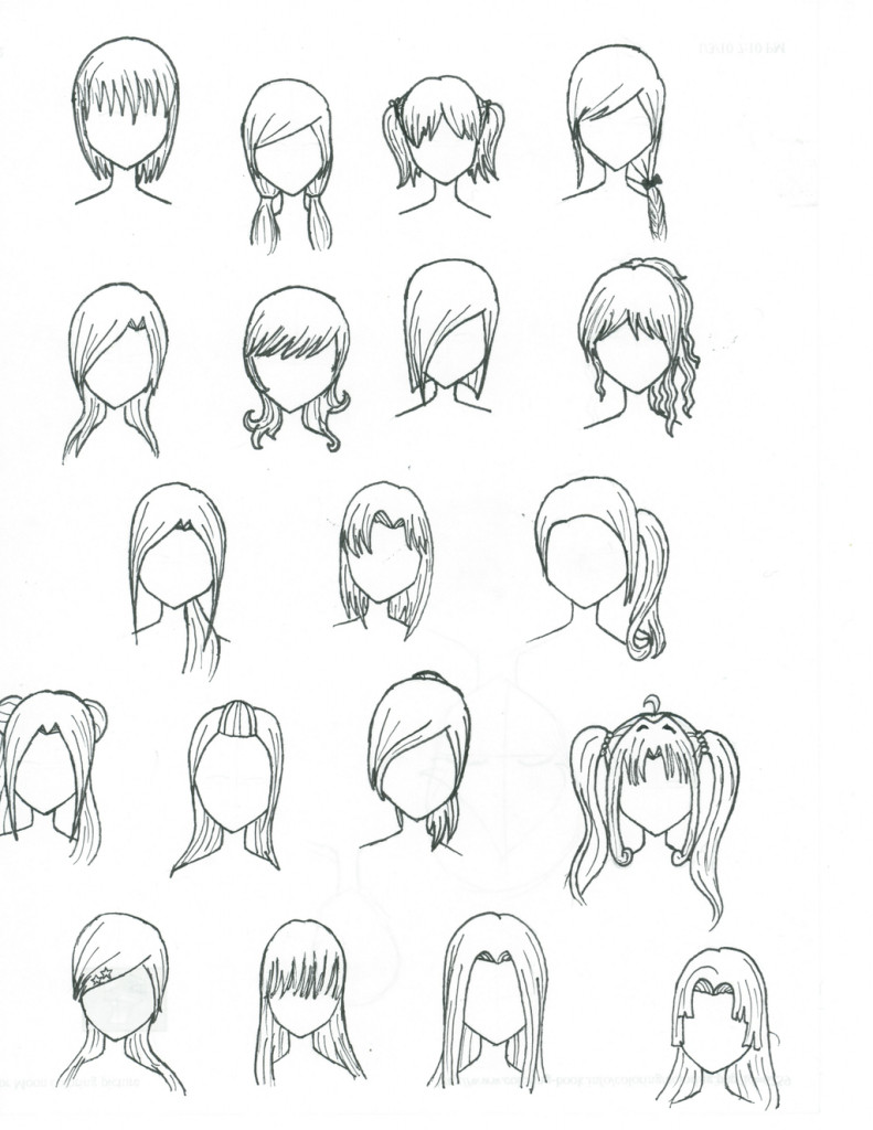 Best ideas about Female Anime Hairstyles . Save or Pin Anime Girl Hairstyles Drawings Drawing Anime Girl Hair Now.