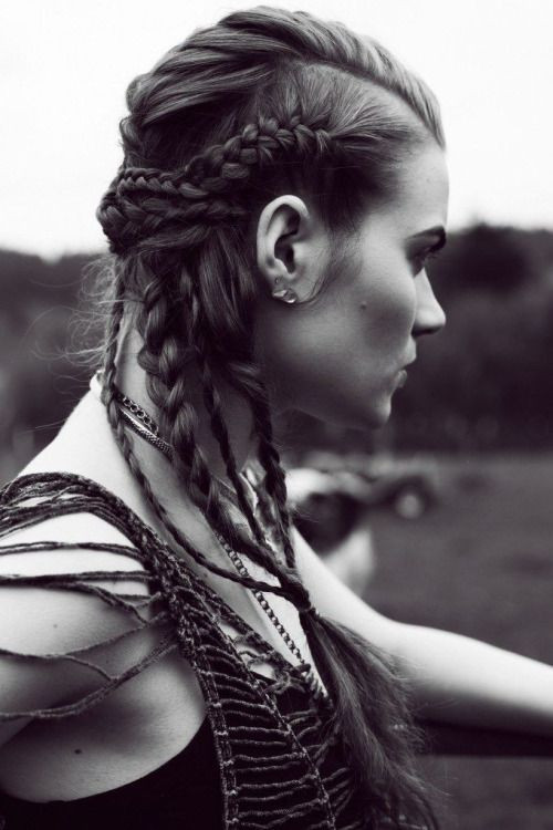 "Best ideas about Female Warrior Hairstyles . Save or Pin Viking Hair with a modern ""twist"" inspired by Vikings Now."