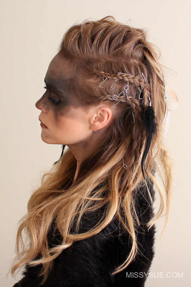 Best ideas about Female Warrior Hairstyles . Save or Pin Viking Warrior Halloween Hairstyle Now.