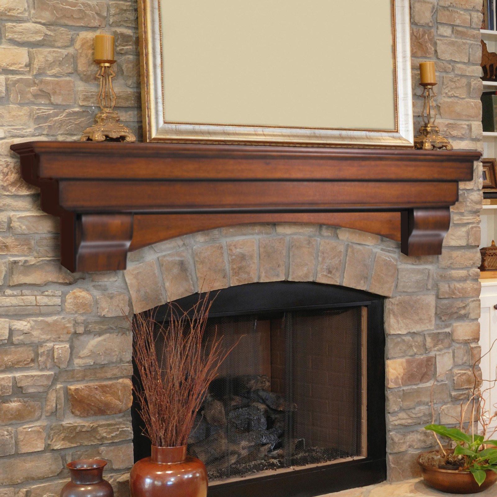 Best ideas about Fireplace Mantel Shelf . Save or Pin Pearl Mantels Auburn Traditional Fireplace Mantel Shelf Now.