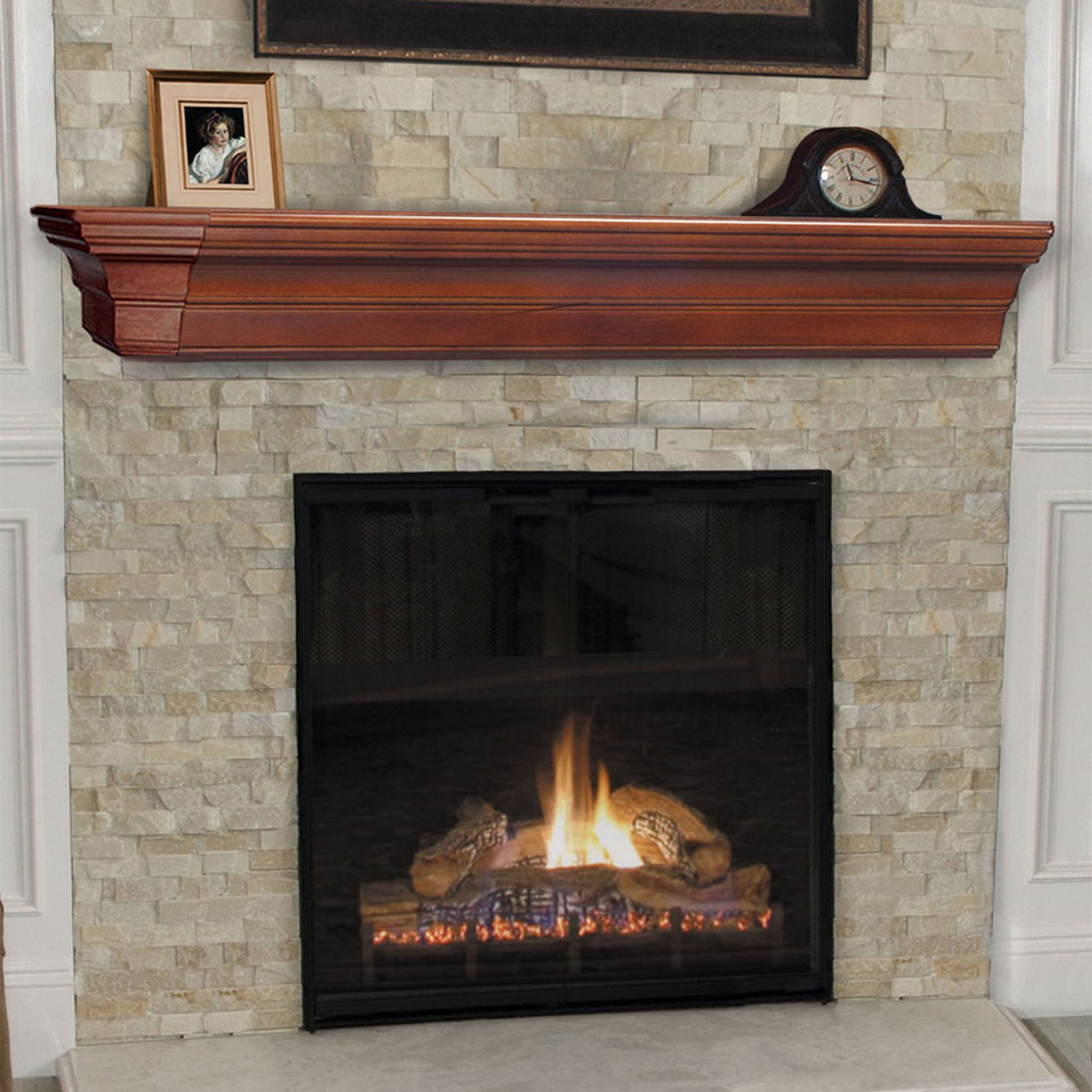 Best ideas about Fireplace Mantel Shelf . Save or Pin Pearl Mantels Lindon Traditional Fireplace Mantel Shelf Now.