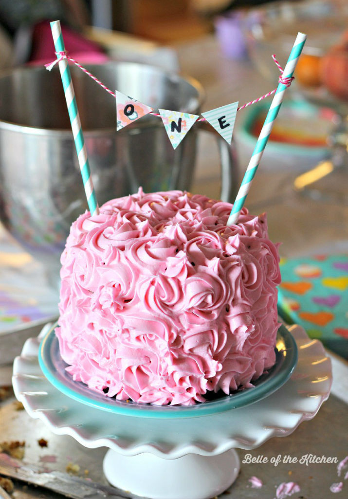 Best ideas about First Birthday Cake Recipe . Save or Pin 1st Birthday Smash Cake Tutorial Simple Vanilla Cake Now.