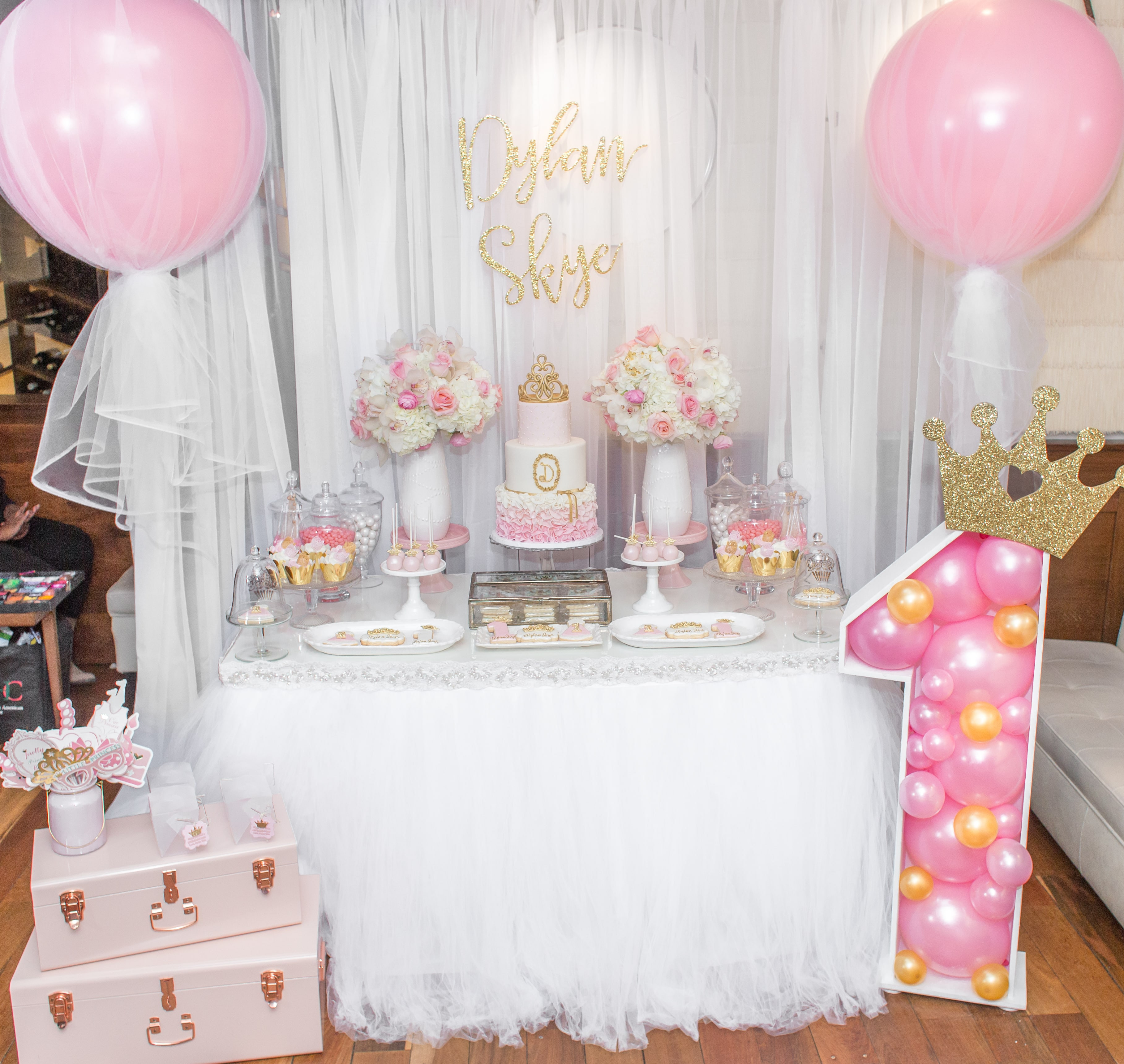 Best ideas about First Birthday Party Decorations . Save or Pin Princess First Birthday Party Now.