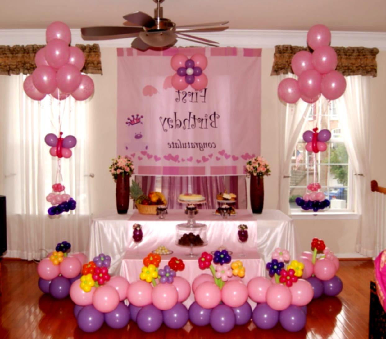 Best ideas about First Birthday Party Decorations . Save or Pin 1st Birthday Decoration Ideas At Home For Party Favor Now.