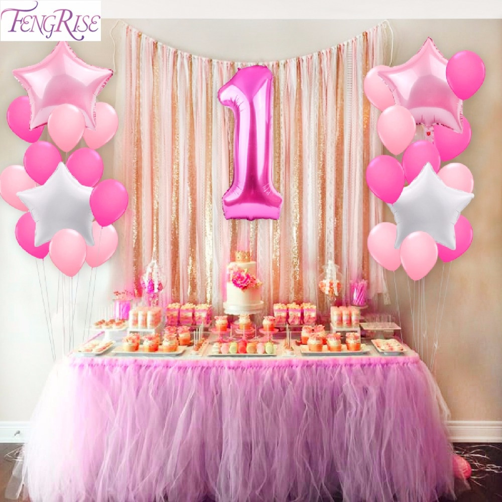 Best ideas about First Birthday Party Decorations . Save or Pin Aliexpress Buy FENGRISE 25pcs 1st Birthday Balloons Now.