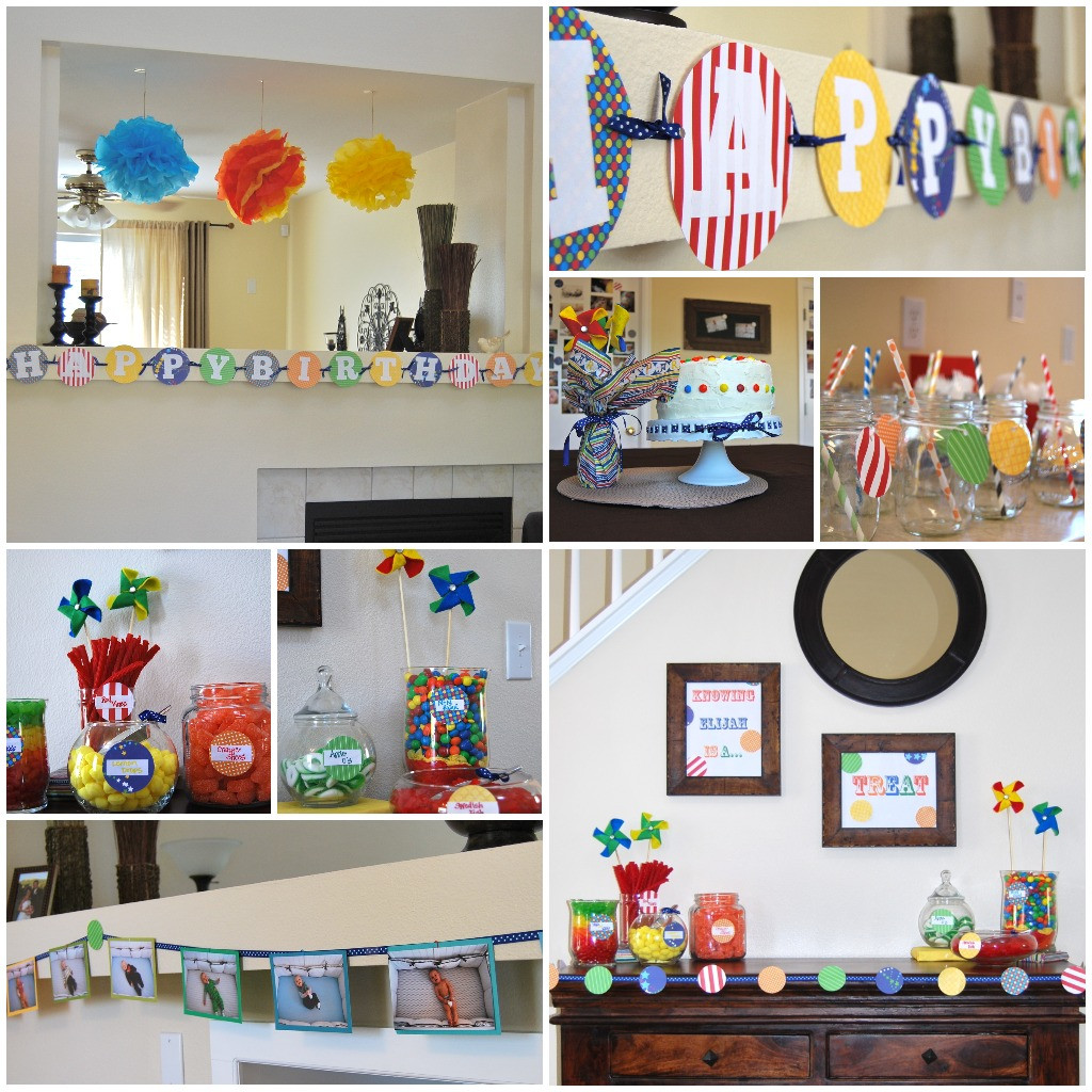 Best ideas about First Birthday Party Decorations . Save or Pin Elijah's First Birthday a colorful celebration Now.