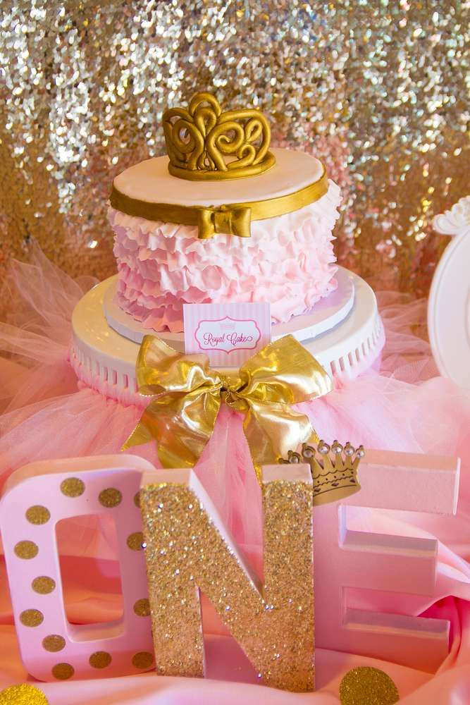 Best ideas about First Birthday Party Decorations . Save or Pin Pink and Gold Birthday Party Ideas Now.
