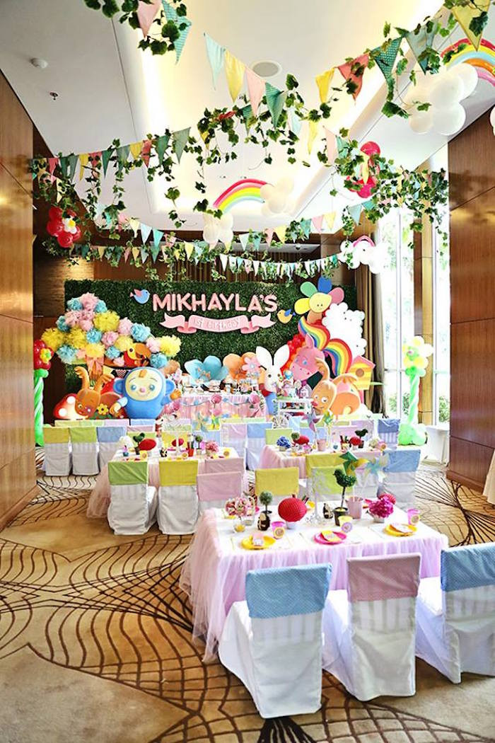 Best ideas about First Birthday Party Decorations . Save or Pin Kara s Party Ideas Sunny Garden 1st Birthday Party Now.