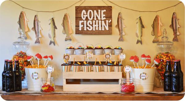 Best ideas about Fishing Birthday Decorations . Save or Pin Kara s Party Ideas Gone Fishin Fisherman Boy Birthday Now.