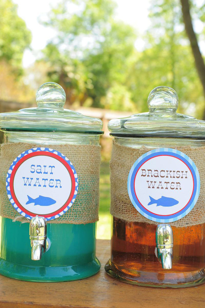 Best ideas about Fishing Birthday Decorations . Save or Pin Kara s Party Ideas Gone Fishing Birthday Party Planning Now.