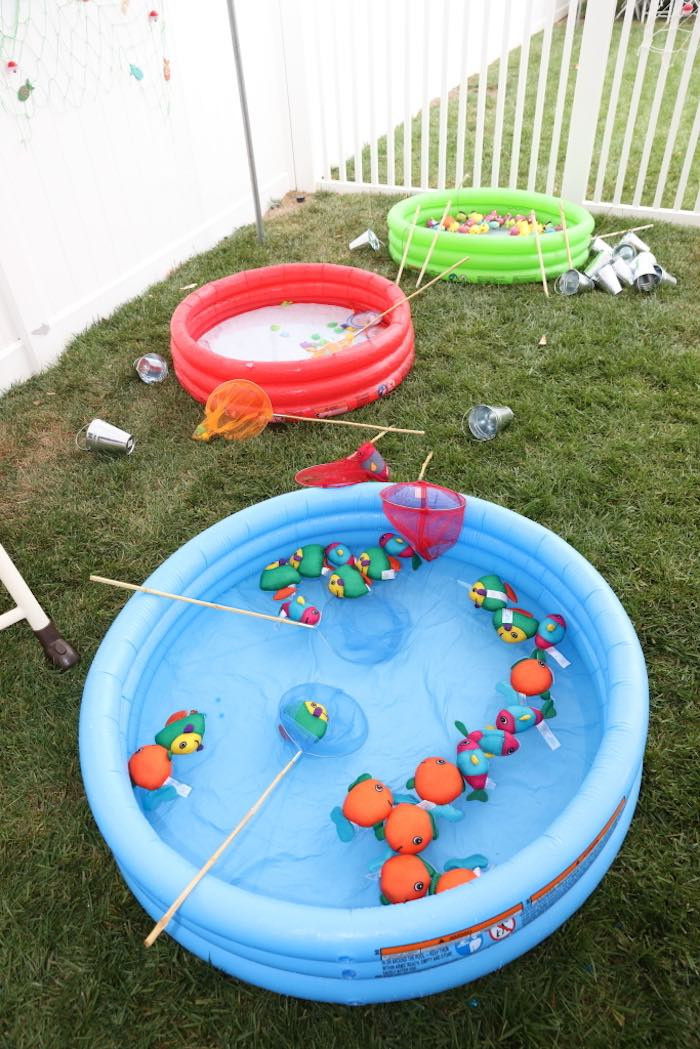 Best ideas about Fishing Birthday Decorations . Save or Pin Kara s Party Ideas Colorful Gone Fishing Birthday Party Now.