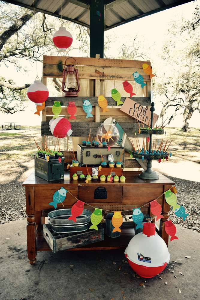 Best ideas about Fishing Birthday Decorations . Save or Pin fishing Birthday Party Ideas 1 of 15 Now.