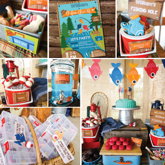 Best ideas about Fishing Birthday Decorations . Save or Pin Fishing Party Decorations Boys Fishing Birthday Party Decor Now.
