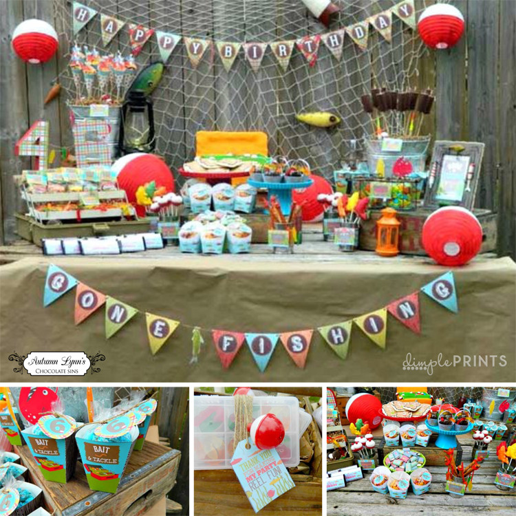 Best ideas about Fishing Birthday Decorations . Save or Pin Fishing Printable Birthday Party Package Dimple Prints Shop Now.
