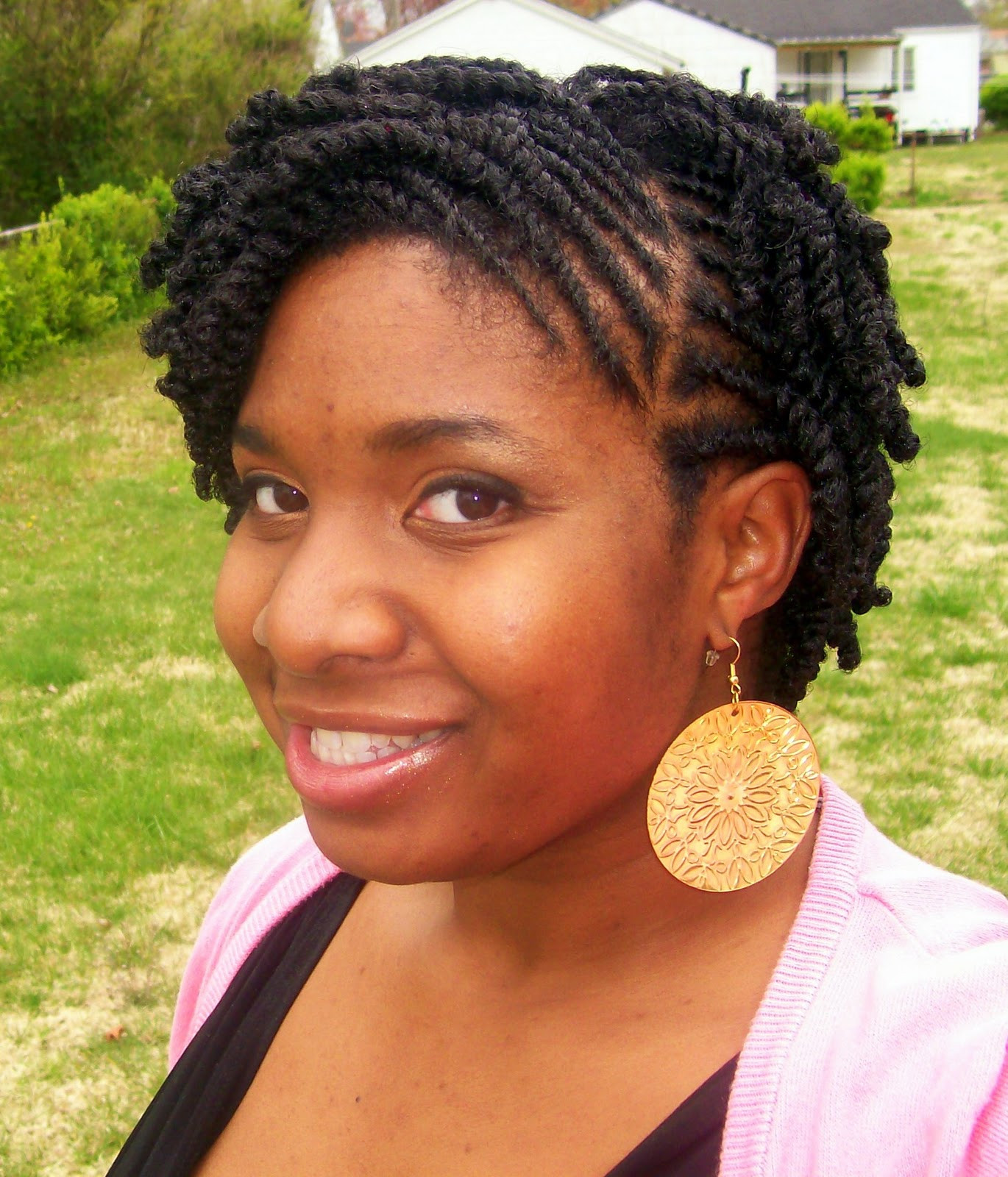Best ideas about Flat Twist Hairstyles On Natural Hair . Save or Pin Flat twist styles for short natural hair BakuLand Now.
