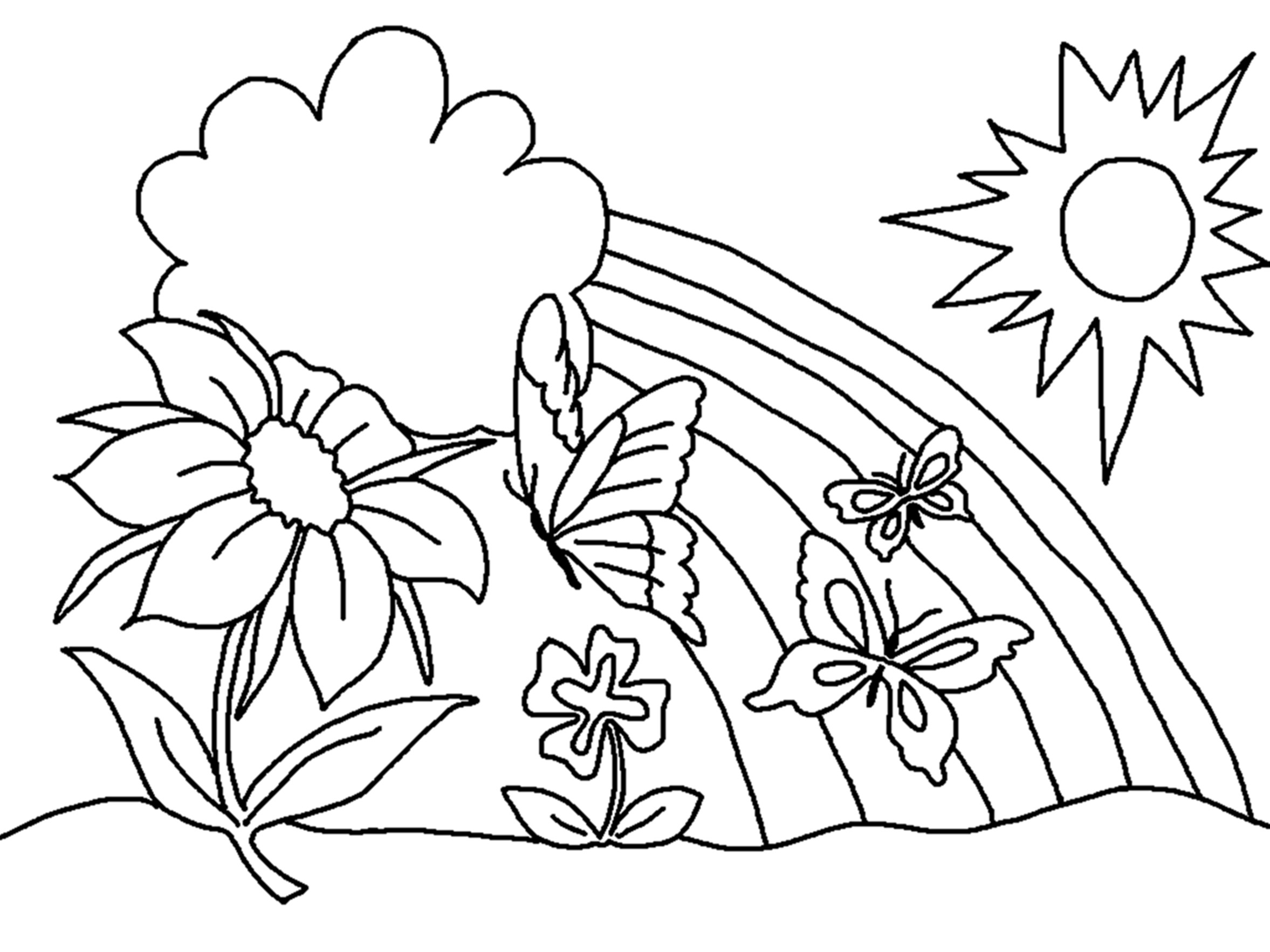 Best ideas about Flower Printable Coloring Sheets . Save or Pin Free Printable Flower Coloring Pages For Kids Best Now.