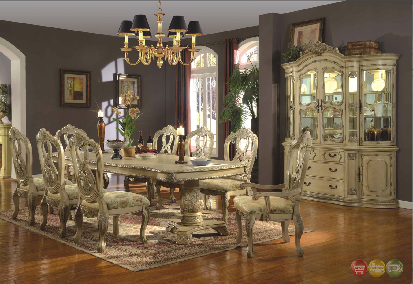 Best ideas about Formal Dining Rooms Furniture . Save or Pin WhiteHall Formal Dining Double Pedestal Table Now.