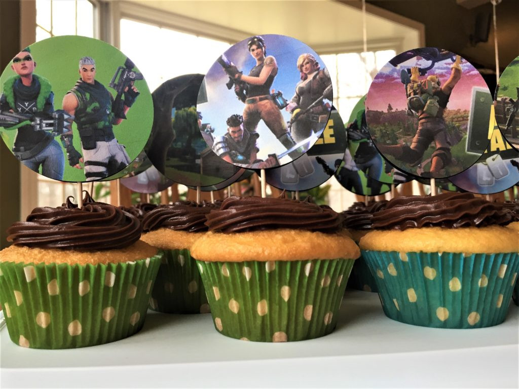 Best ideas about Fortnite Birthday Party Supplies . Save or Pin Free Fortnite Cupcake Topper Tutorial Kids Birthday Parties Now.