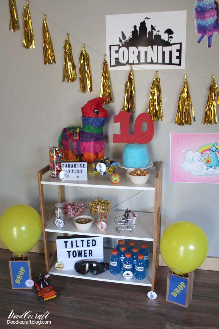 Best ideas about Fortnite Birthday Party Supplies . Save or Pin Doodlecraft Fortnite Themed Birthday Party Ideas DIY Now.