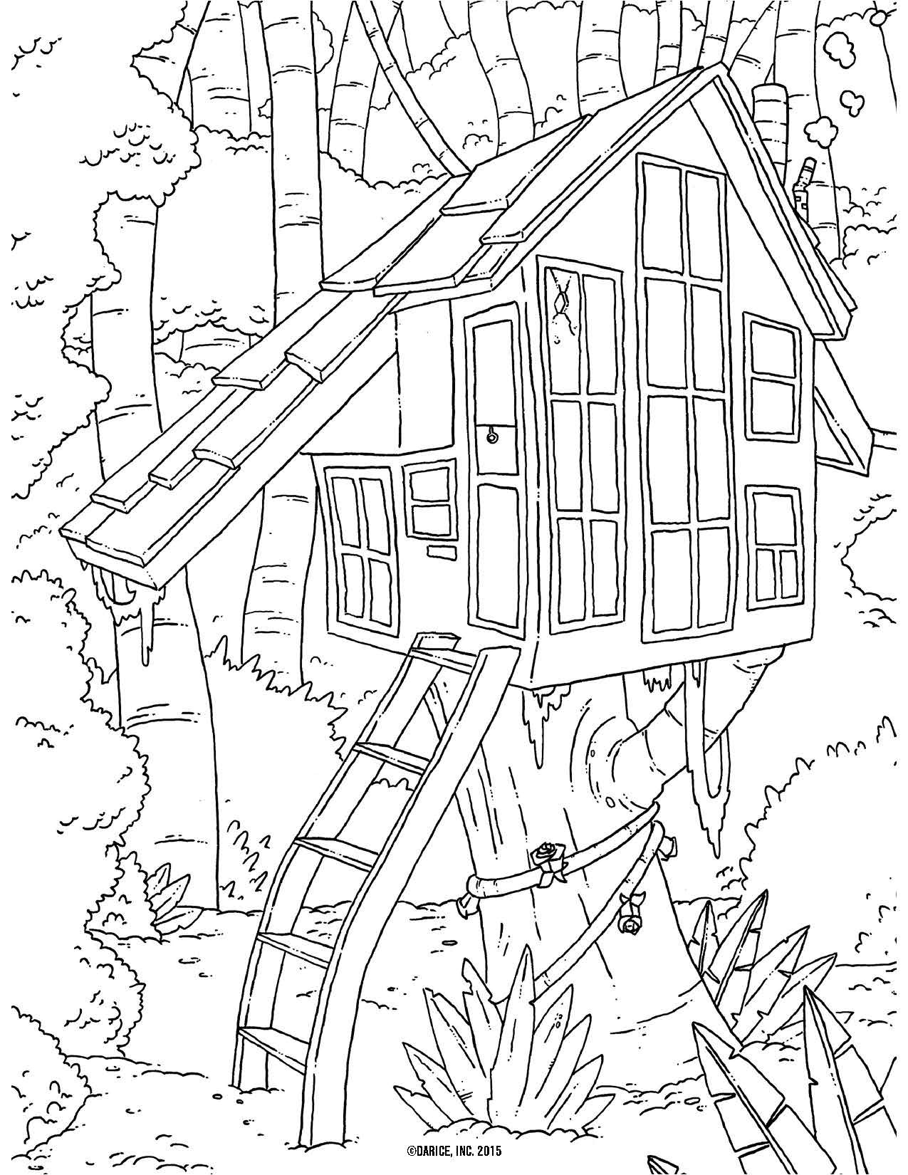 Best ideas about Free Coloring Pages Com . Save or Pin Free Tree House Coloring Pages AZ Coloring Pages Now.