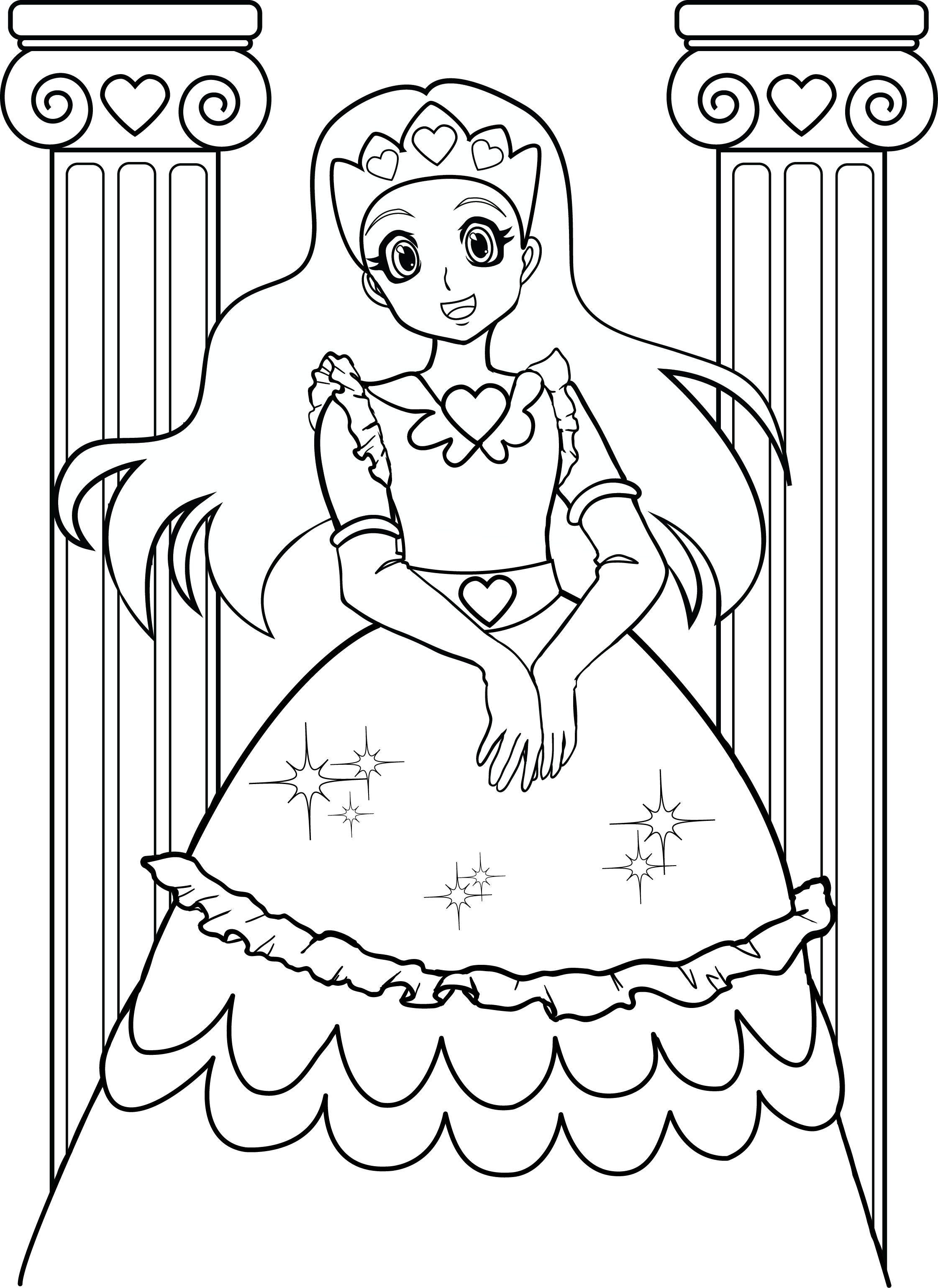 Best ideas about Free Coloring Pages For Girls To Print . Save or Pin Coloring Pages For Girls 7 Now.