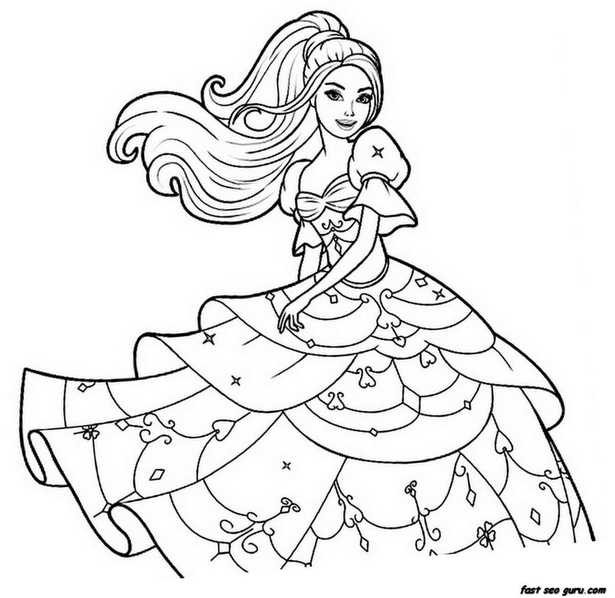 Best ideas about Free Coloring Pages For Girls To Print . Save or Pin coloring pages for girls Now.