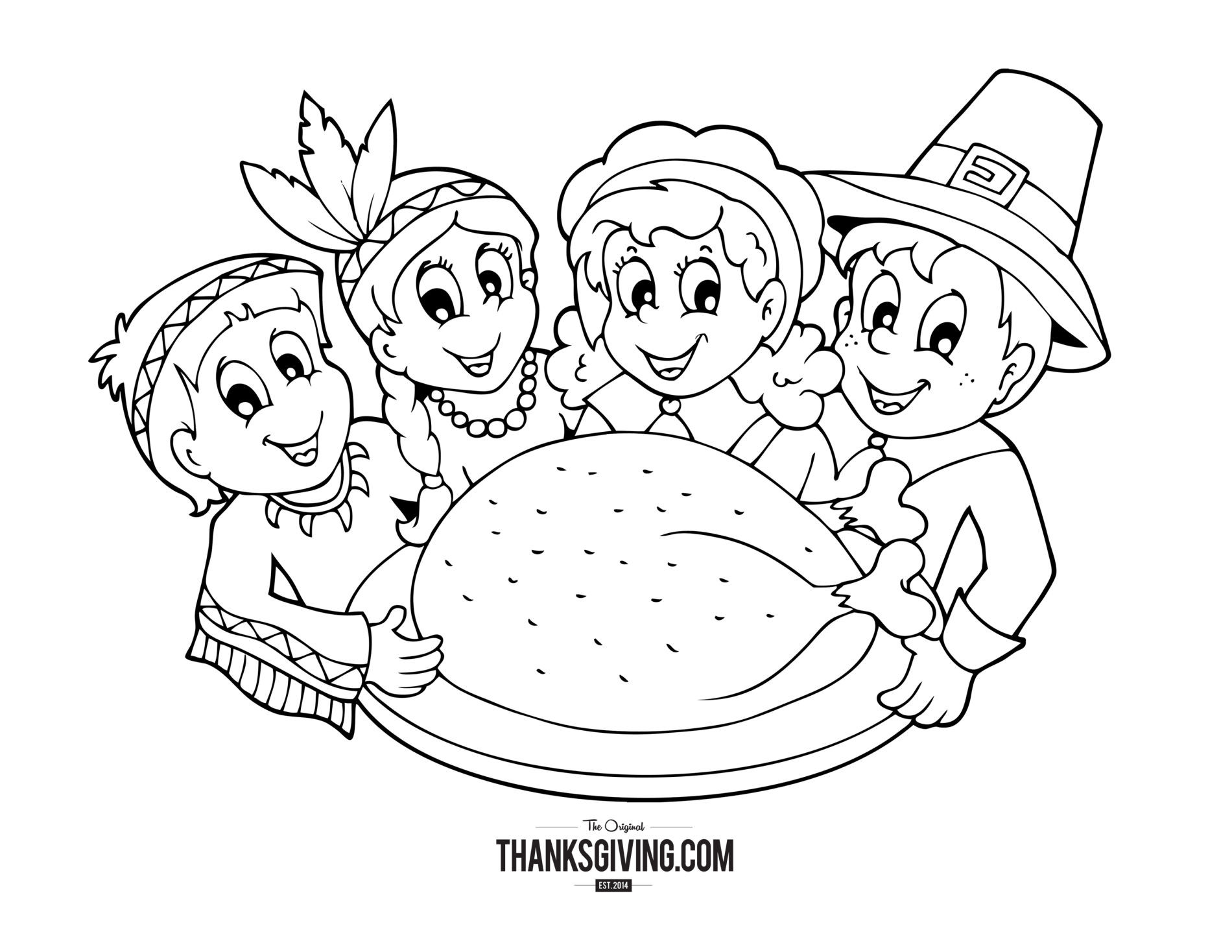 Best ideas about Free Coloring Pages For Thanksgiving Day . Save or Pin Thanksgiving Coloring Book Pages for Kids Now.