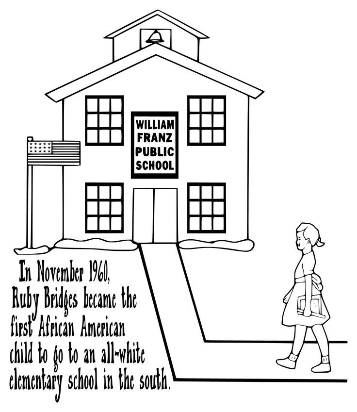 Best ideas about Free Coloring Pages Of Ruby Bridges . Save or Pin RUBY BRIDGES COLORING PAGE kid projects Now.