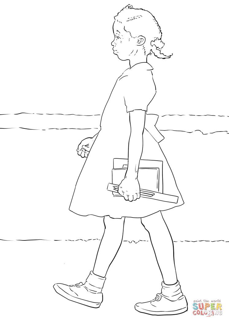 Best ideas about Free Coloring Pages Of Ruby Bridges . Save or Pin Dibujo de Ruby Bridges para colorear Now.