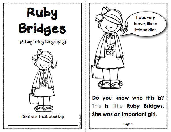 Best ideas about Free Coloring Pages Of Ruby Bridges . Save or Pin Beginning Biographies Student Books Notes Questions Now.