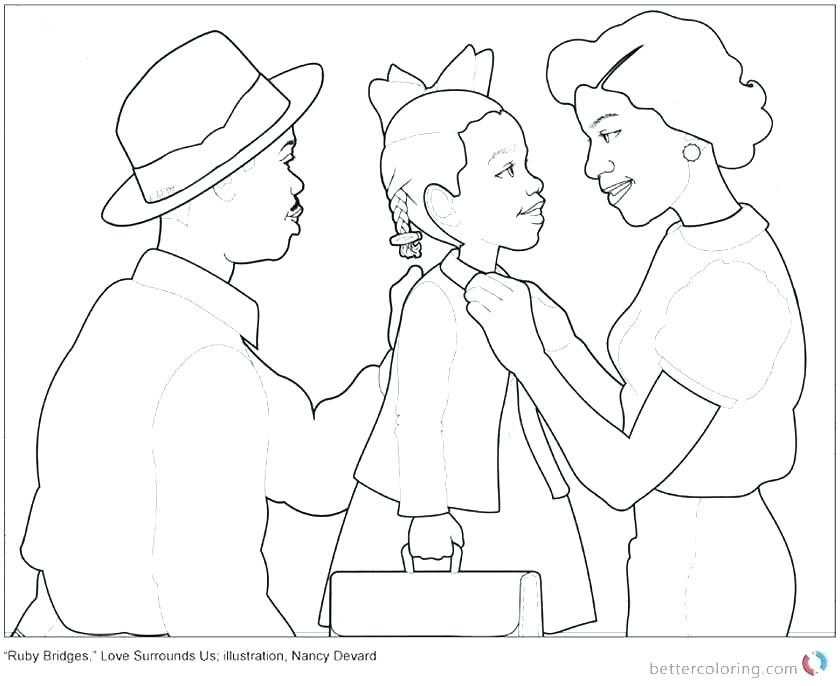 Best ideas about Free Coloring Pages Of Ruby Bridges . Save or Pin ruby bridges coloring page – botanicsfo Now.