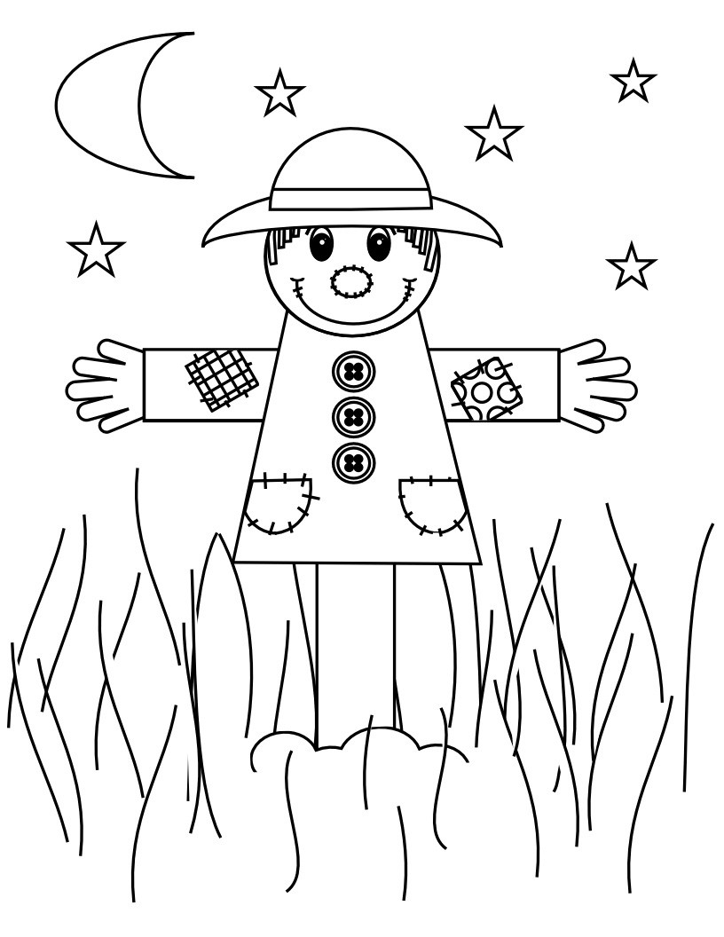 Best ideas about Free Coloring Pages Of Scarecrows . Save or Pin Free Printable Scarecrow Coloring Pages For Kids Now.