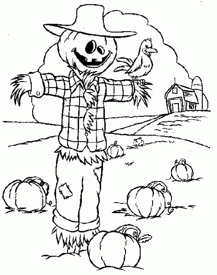 Best ideas about Free Coloring Pages Of Scarecrows . Save or Pin Get This Printable Scarecrow Coloring Pages for Kids BKj66 Now.