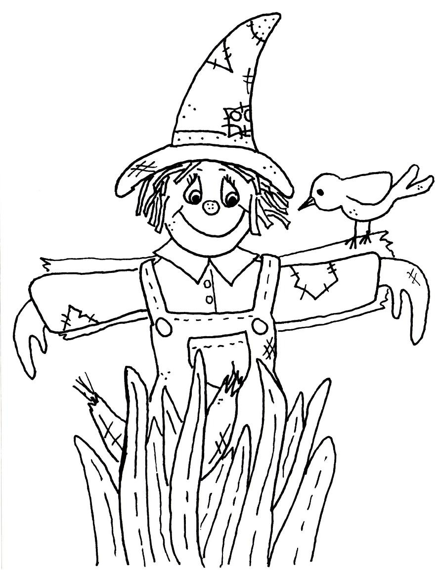 Best ideas about Free Coloring Pages Of Scarecrows . Save or Pin Scarecrow Coloring Pages Bestofcoloring Now.