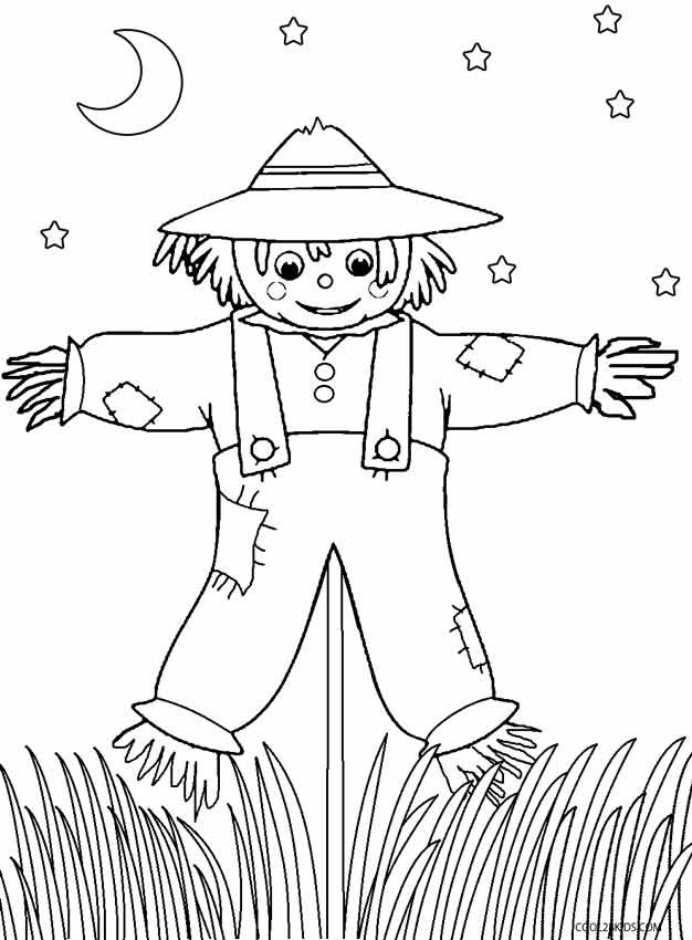 Best ideas about Free Coloring Pages Of Scarecrows . Save or Pin Printable Scarecrow Coloring Pages For Kids Now.