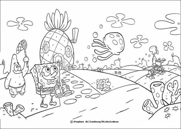 Best ideas about Free Coloring Pages Of Spongebob And Friends . Save or Pin Sponge bob and his friends coloring pages Hellokids Now.