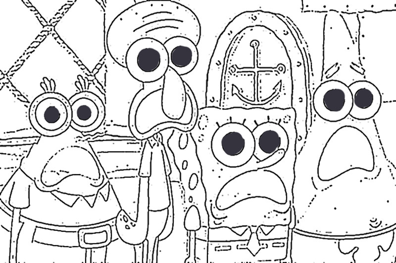 Best ideas about Free Coloring Pages Of Spongebob And Friends . Save or Pin Spongebob And Friends Now.