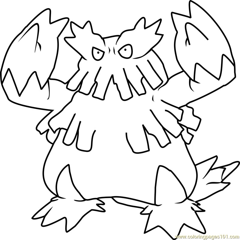 Best ideas about Free Coloring Pages Pokemon Abomasnow . Save or Pin Abomasnow Pokemon Coloring Page Free Pokémon Coloring Now.