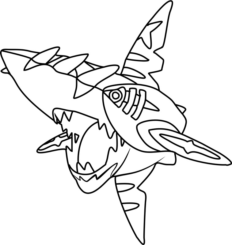 Best ideas about Free Coloring Pages Pokemon Abomasnow . Save or Pin Mega Sharpedo Pokemon Coloring Page Free Printable Now.