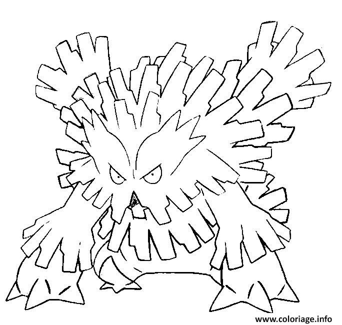 Best ideas about Free Coloring Pages Pokemon Abomasnow . Save or Pin Coloriage Pokemon Mega Evolution Blizzaroi dessin Now.