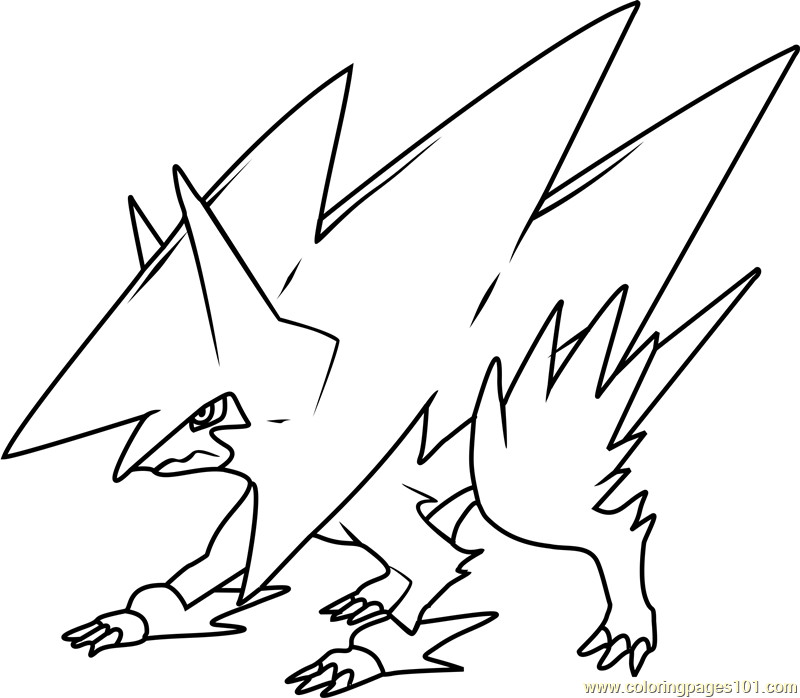 Best ideas about Free Coloring Pages Pokemon Abomasnow . Save or Pin Mega Manectric Pokemon Coloring Page Free Pokémon Now.