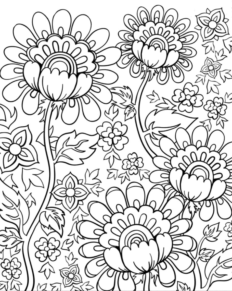 Best ideas about Free Coloring Sheets Flowers . Save or Pin Flower Doodles Doodle Coloring Pages Now.