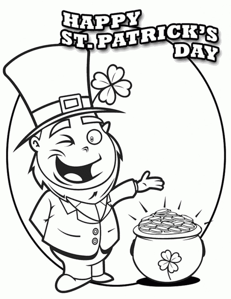 Best ideas about Free Coloring Sheets For Kids For St Patrick'S Day . Save or Pin 12 Printable St Patrick S Day Coloring Pages For Kids Now.