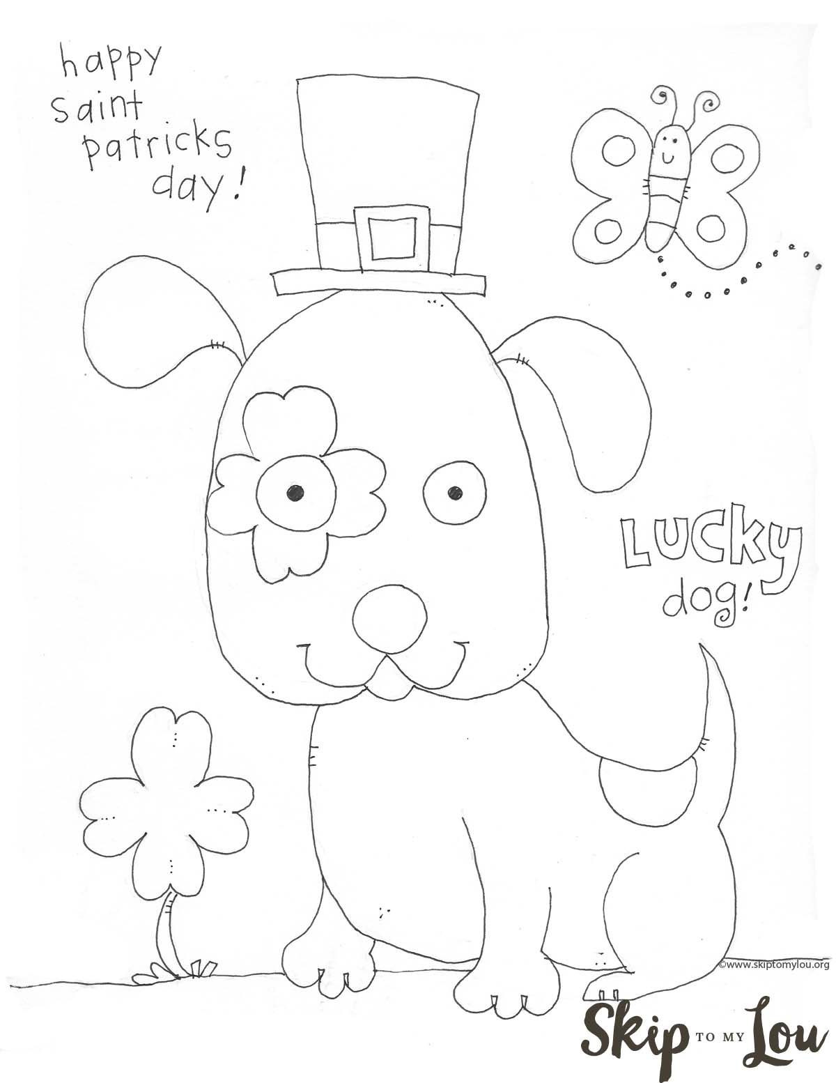 Best ideas about Free Coloring Sheets For Kids For St Patrick'S Day . Save or Pin St Patricks Day Coloring Page for Preschoolers Now.
